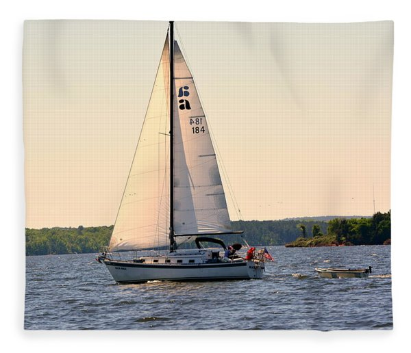 Sailing On Lake Murray Sc Fleece Blanket