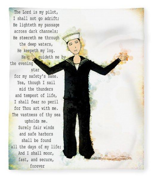 Sailor's Prayer Fleece Blanket