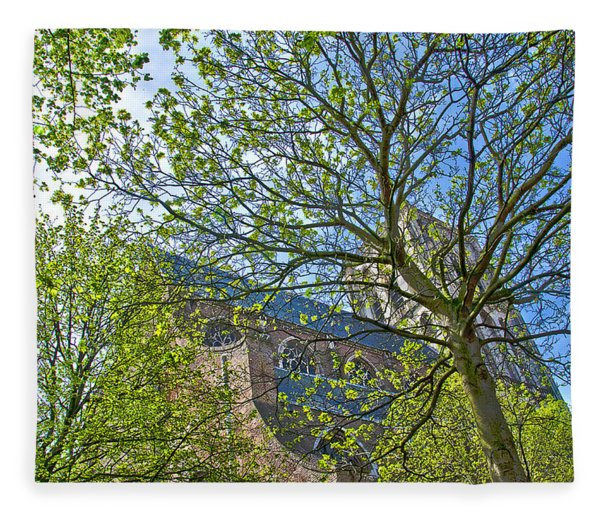 Saint Catharine's Church In Brielle Fleece Blanket