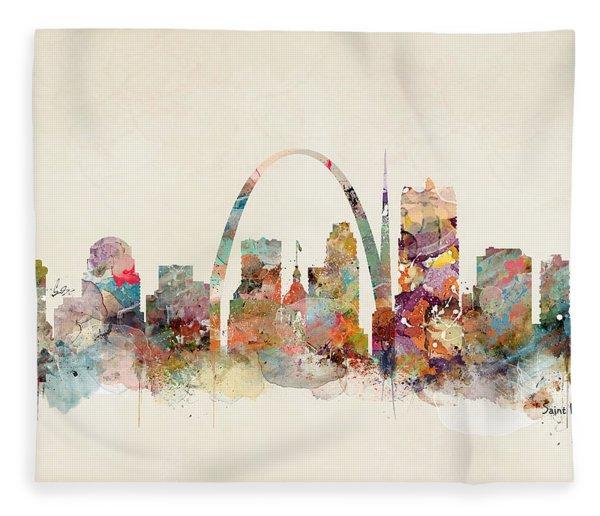 Saint Louis Missouri Fleece Blanket