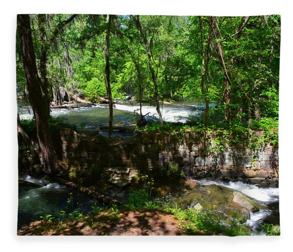 Saluda River Columbia Sc Fleece Blanket