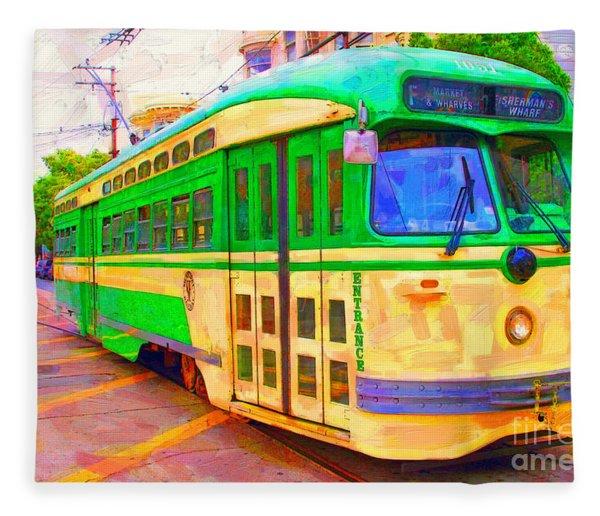 San Francisco F-line Trolley Fleece Blanket