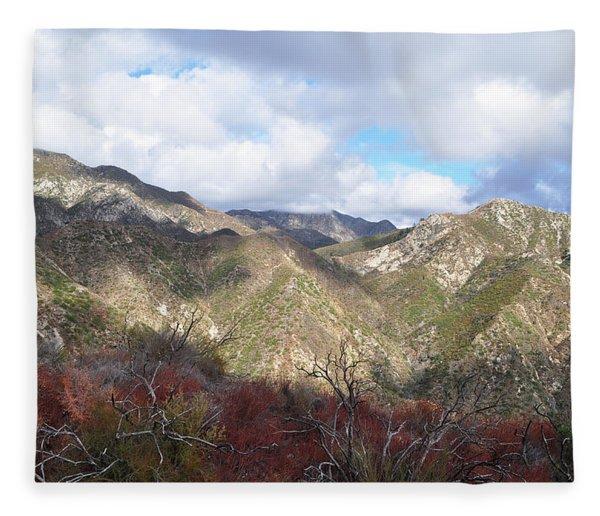 San Gabriel Mountains National Monument Fleece Blanket