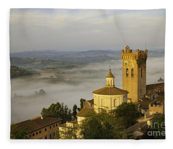 Fleece Blanket featuring the photograph San Miniato by Brian Jannsen