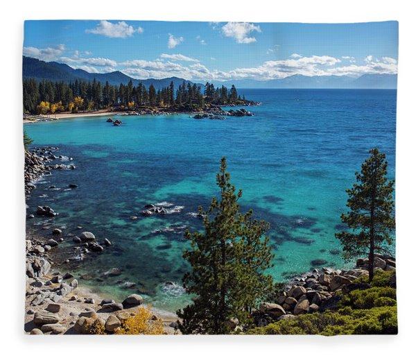 Sand Harbor Lookout By Brad Scott  Fleece Blanket