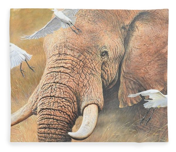 Fleece Blanket featuring the painting Scatter by Alan M Hunt