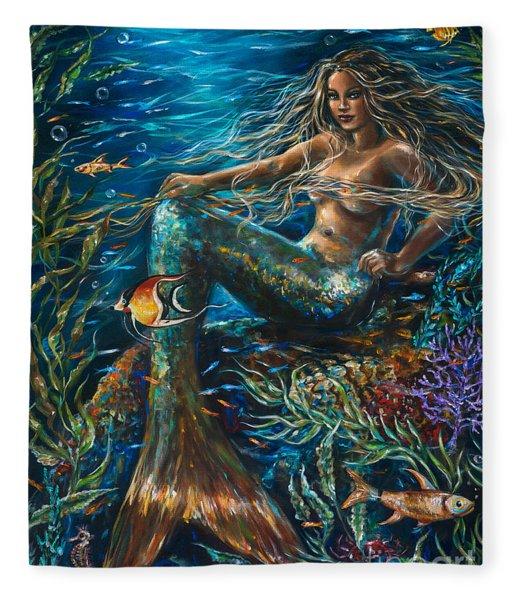 Sea Jewels Mermaid Fleece Blanket