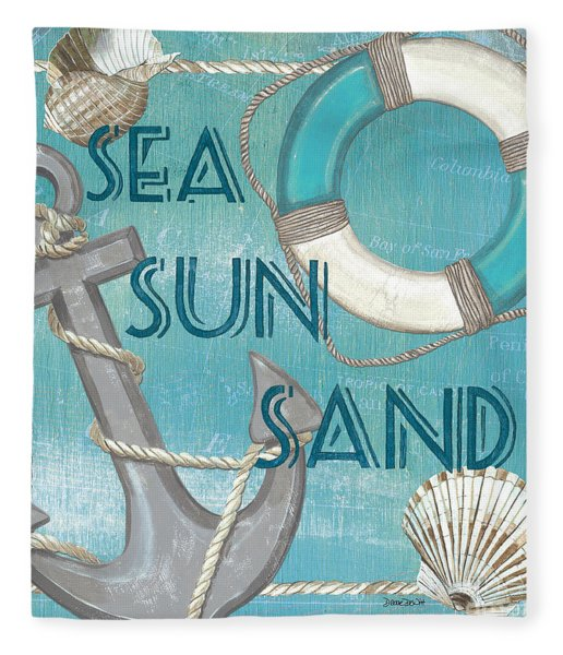 Sea Sun Sand Fleece Blanket