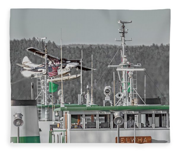 Seaplane Art Of The Craft Fleece Blanket