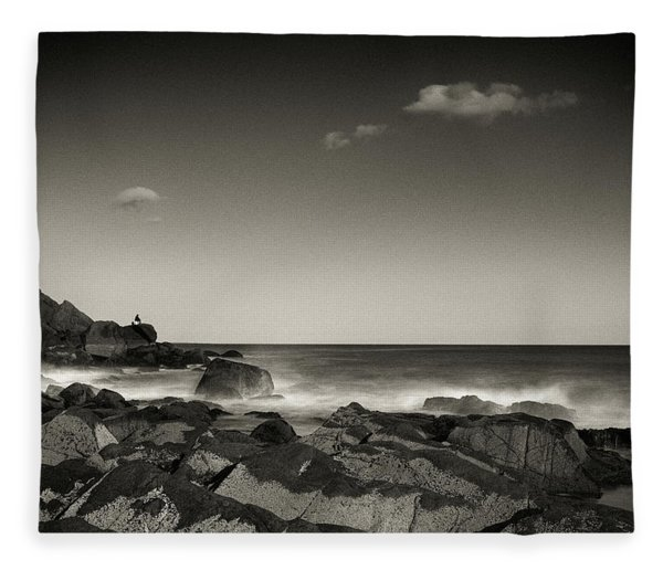 Seaside Solitude Fleece Blanket