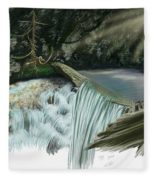 Serene Oasis Of Stagger Inn Fleece Blanket