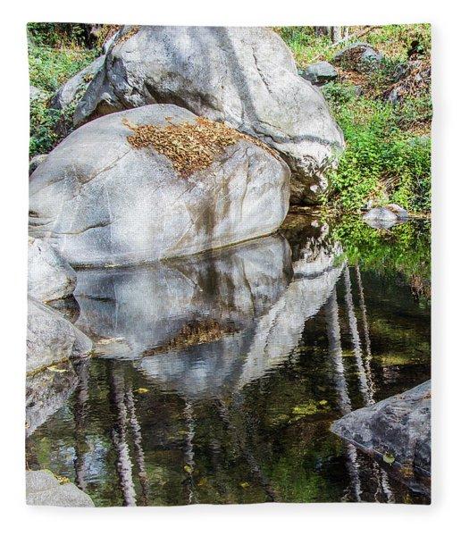 Serene Reflections Fleece Blanket