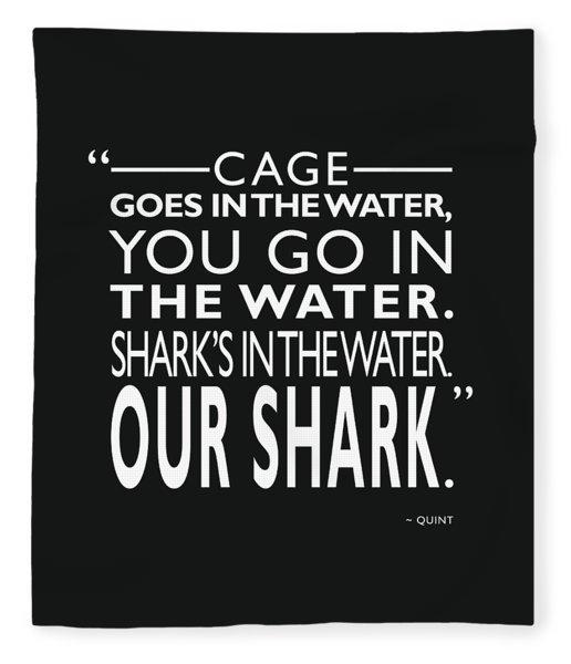 Sharks In The Water Fleece Blanket