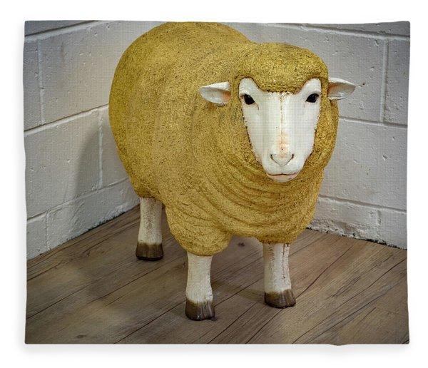 Sheep In The Corner Fleece Blanket