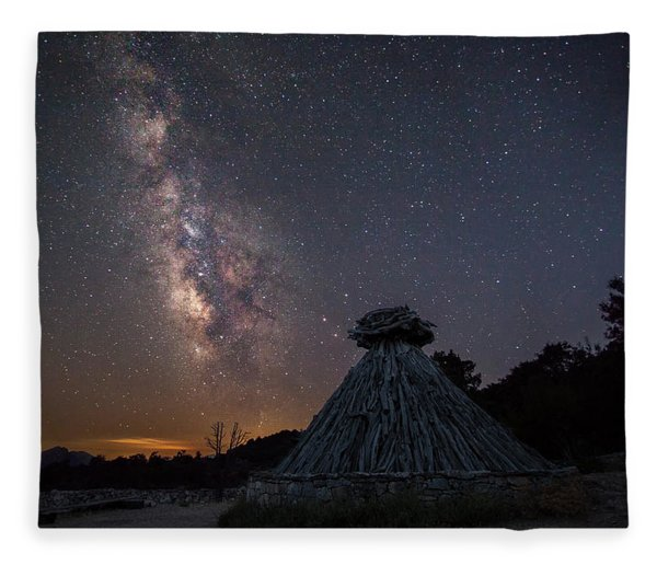 Sheepfold Under The Stars Fleece Blanket