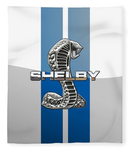 Shelby Cobra - 3d Badge Fleece Blanket