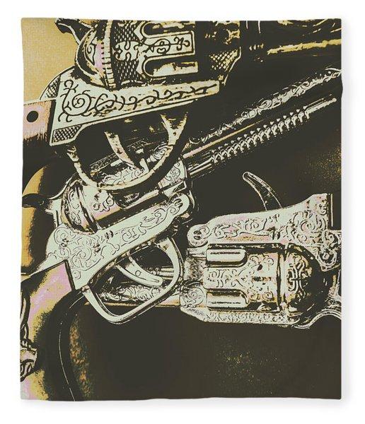 Sheriff Guns Fleece Blanket