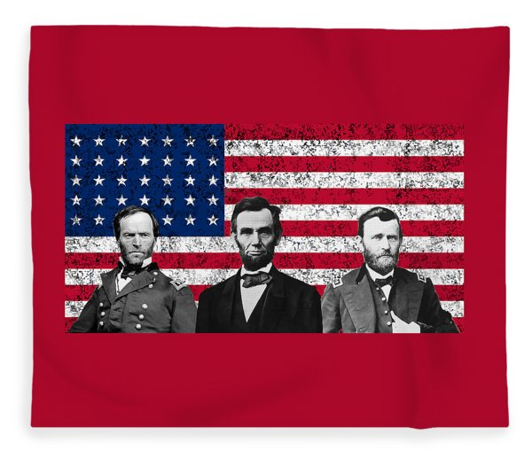 Sherman - Lincoln - Grant Fleece Blanket