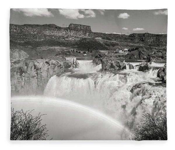 Shoshone Falls Fleece Blanket