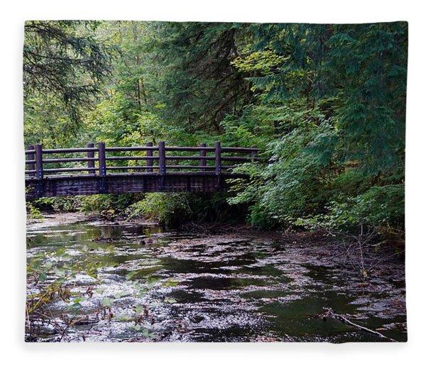Silver Creek Falls #38 Fleece Blanket