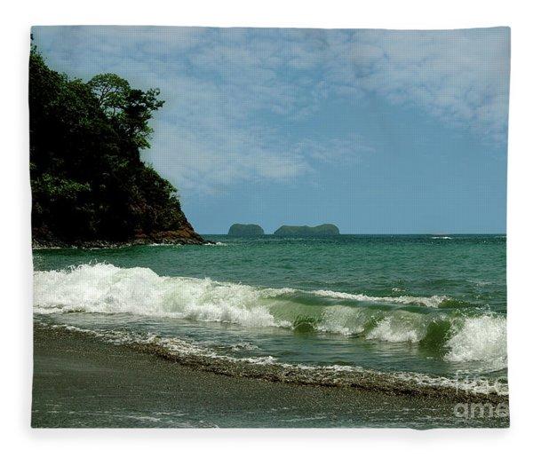 Simple Costa Rica Beach Fleece Blanket