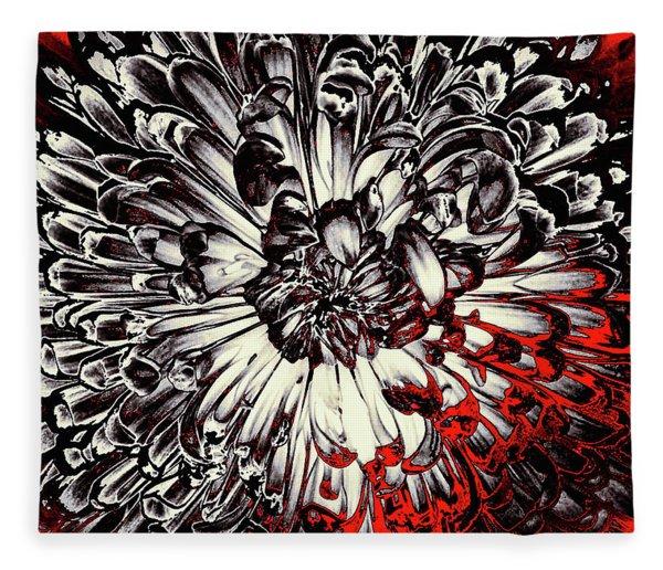 Fleece Blanket featuring the mixed media Sin City by Susan Maxwell Schmidt