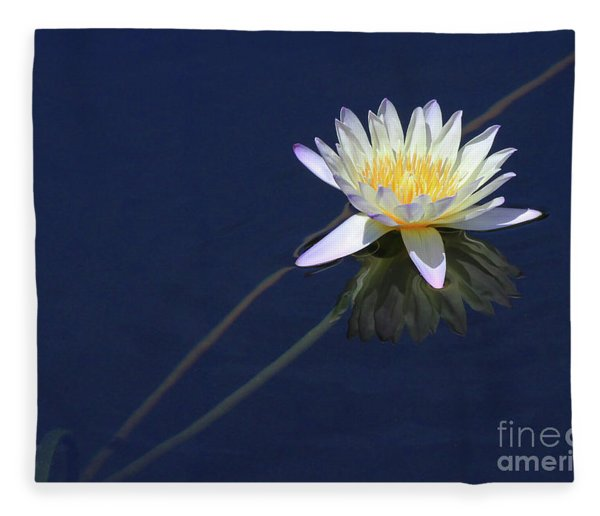 Single Lotus Fleece Blanket