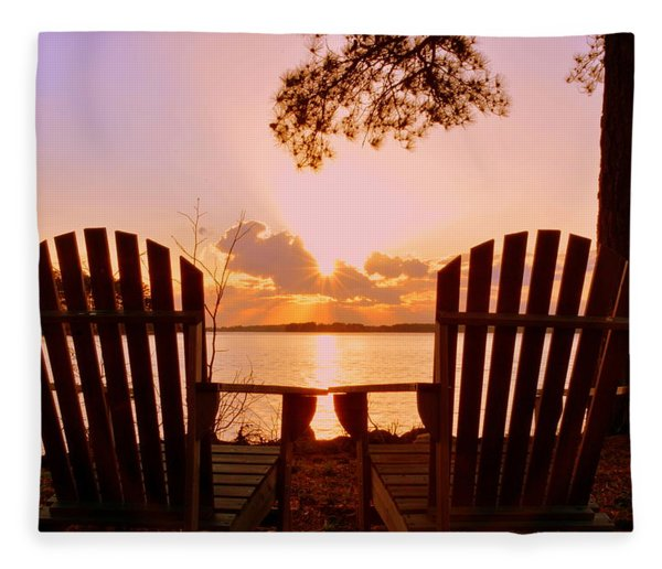 Sit Down And Relax Fleece Blanket