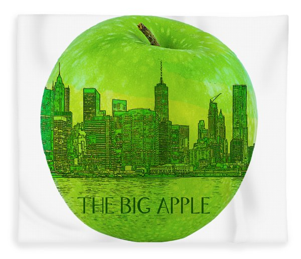 Skyline Of The Big Apple, New York City, United States Fleece Blanket