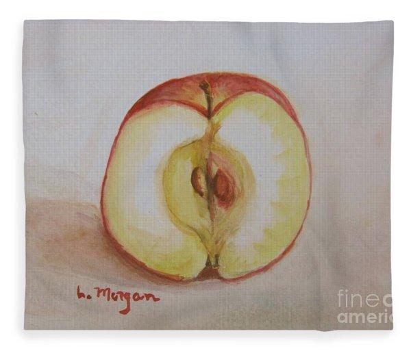 Sliced Apple Fleece Blanket