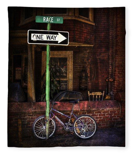 Slow Down On The Race Street Fleece Blanket