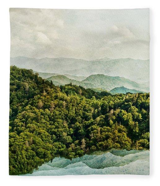 Smoky Mountain Reflections Fleece Blanket