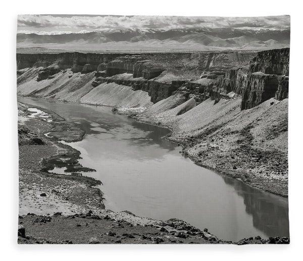 Snake River Valley At Swan Falls Fleece Blanket