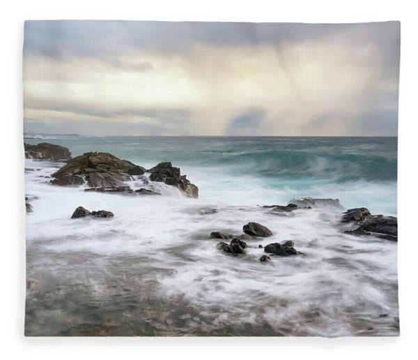 Soft And Stormy Fleece Blanket