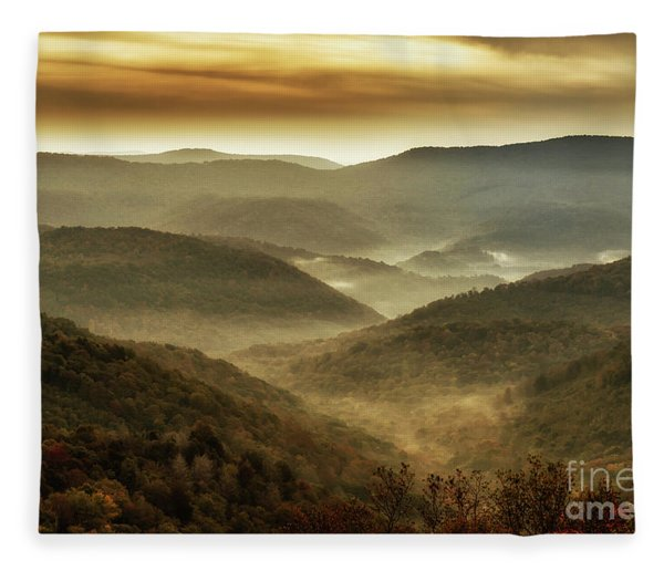 Soft Morning In The Mountains Fleece Blanket