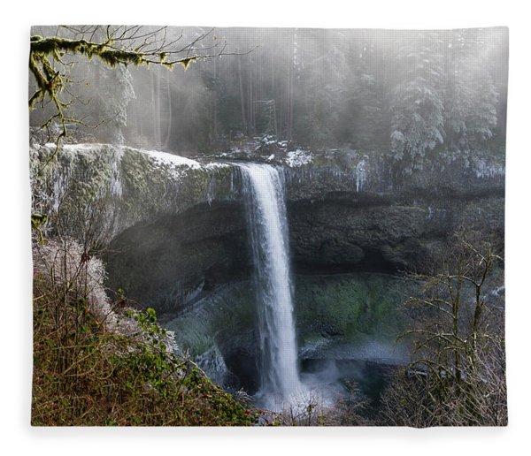 South Falls Shroud Fleece Blanket