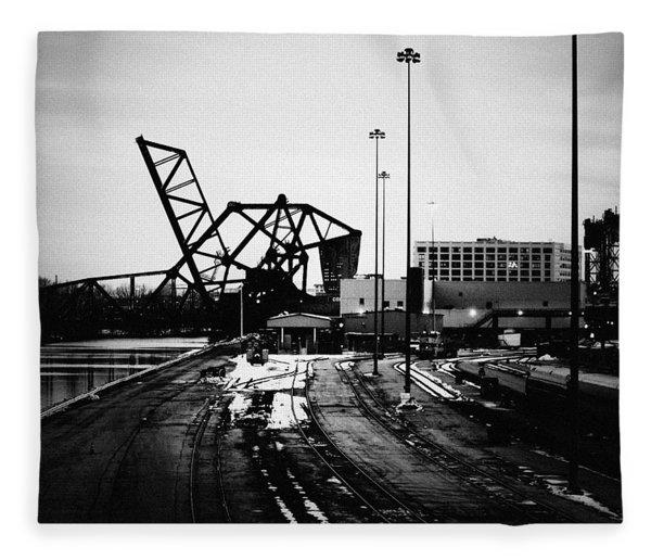 South Loop Railroad Bridge Fleece Blanket