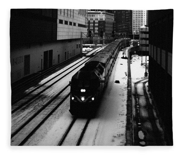 South Loop Railroad Fleece Blanket