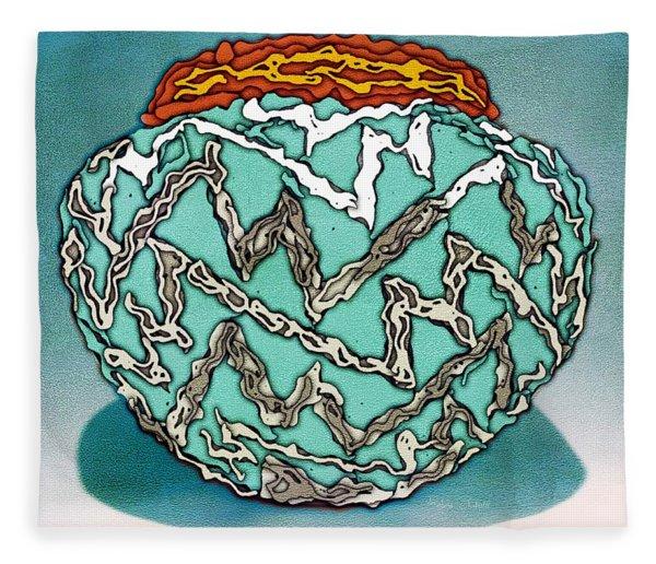 Southwest Pottery Art Fleece Blanket