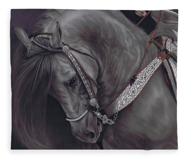 Spanish Horse Fleece Blanket