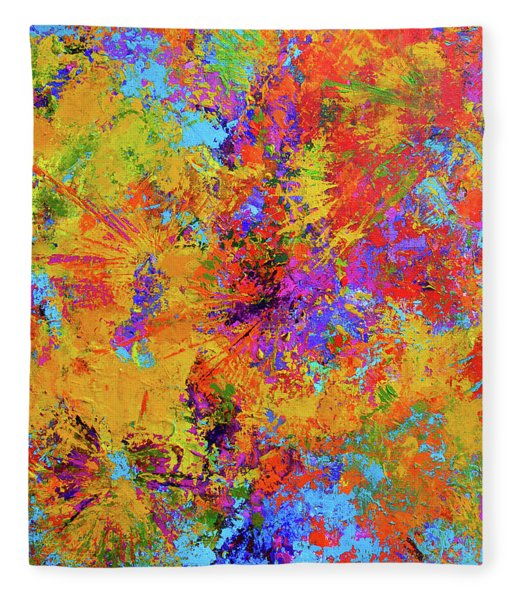Sparks Of Consciousness Modern Abstract Painting Fleece Blanket
