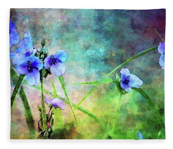 Spiderwort Dance 0115 Idp_2 Fleece Blanket