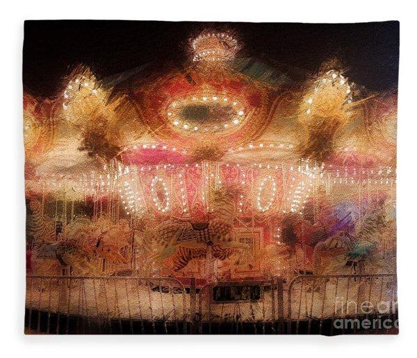 Spinning At The Speed Of Light Fleece Blanket