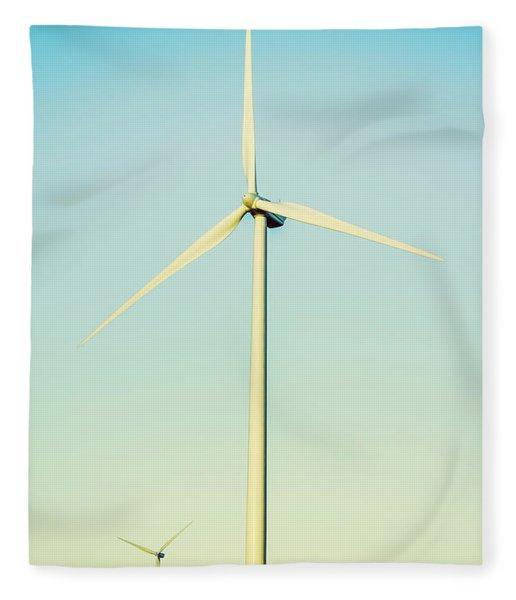 Spinning Sustainability Fleece Blanket
