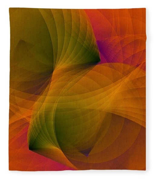 Fleece Blanket featuring the digital art Spiraling Insight With Complicated Continuation by Susan Maxwell Schmidt