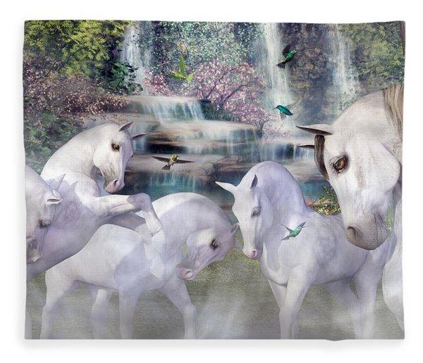 Spiritual Harmony Fleece Blanket