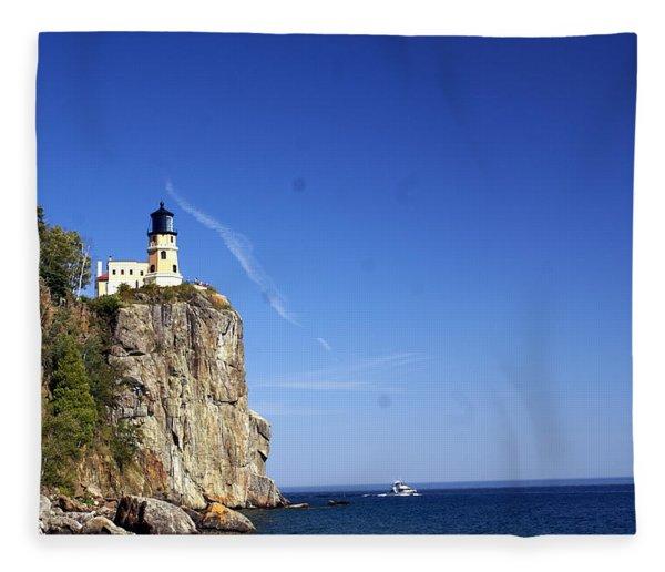 Split Rock 1 Fleece Blanket