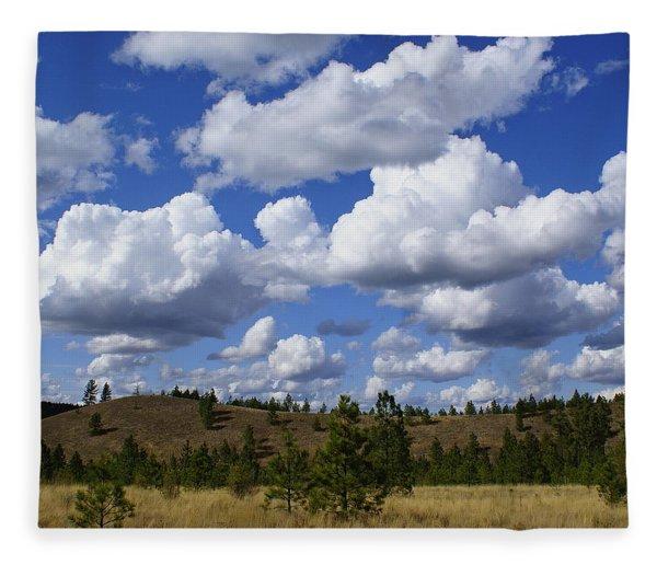 Spokane Cloudscape Fleece Blanket