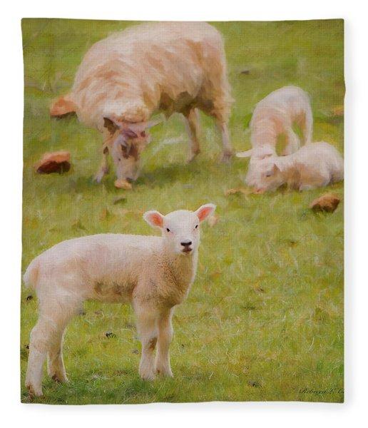 Spring Lamb Fleece Blanket