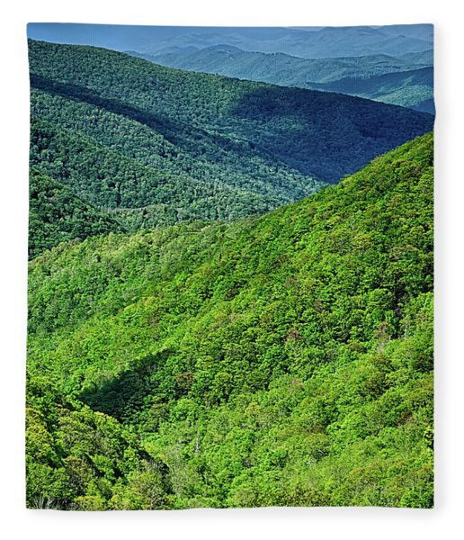 Fleece Blanket featuring the photograph Springtime In The Blue Ridge Mountains by Alex Grichenko